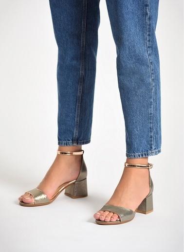 D by Divarese Topuklu Ayakkabı Bronz